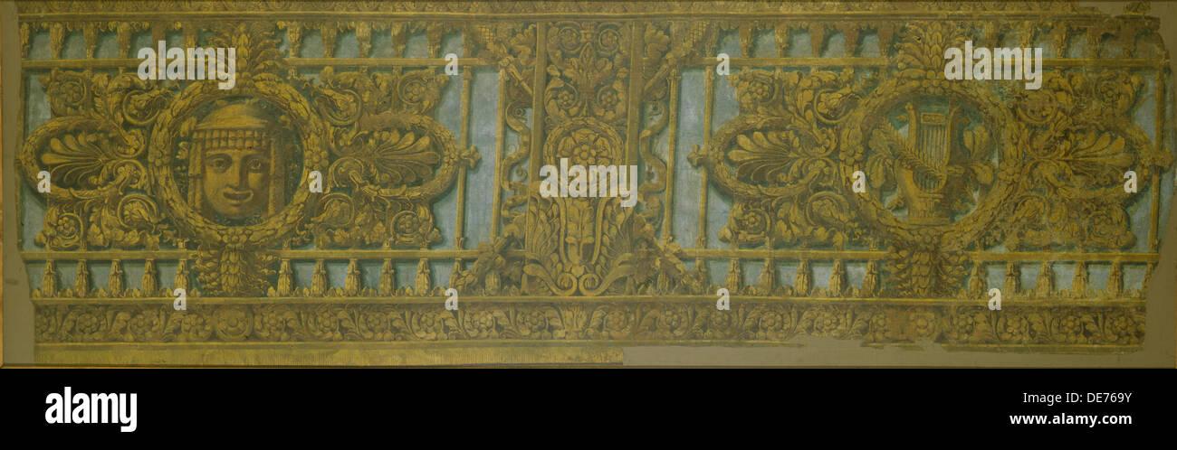 Box design for the Alexandrinsky Theatre in Saint Petersburg, 1826-1829. Artist: Rossi, Carlo (1775-1849) - Stock Image