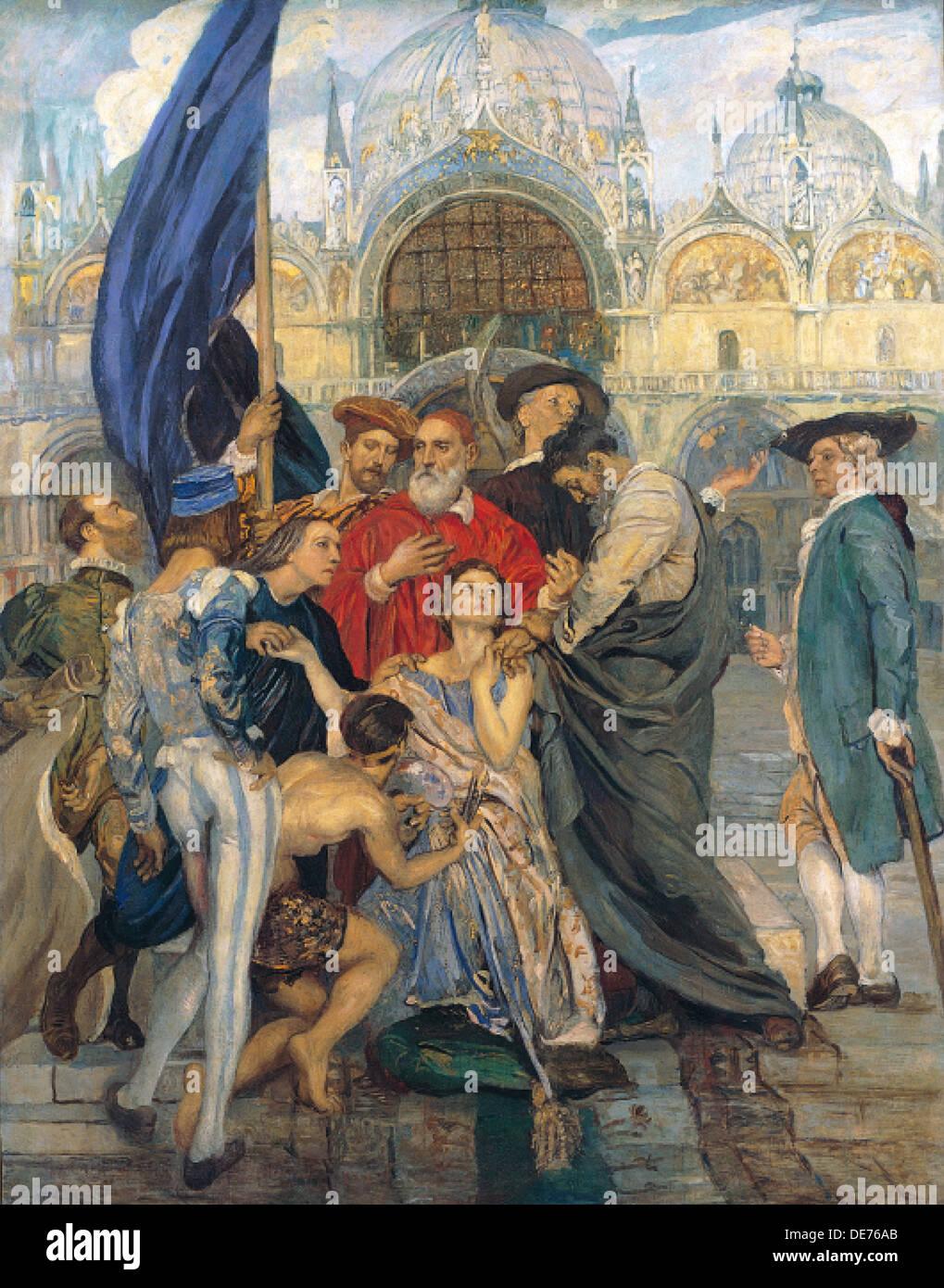 The Venetian Painters, 1937. Artist: Tito, Ettore (1859-1941) - Stock Image