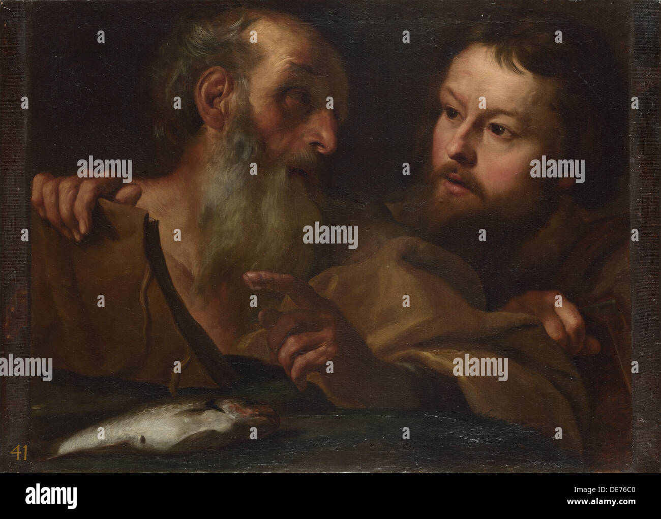 Saints Andrew and Thomas, before 1627. Artist: Bernini, Gianlorenzo (1598-1680) - Stock Image