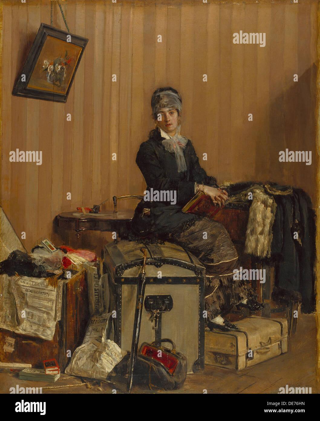 The Customs, 1877. Artist: Mancini, Antonio (1852-1930) - Stock Image