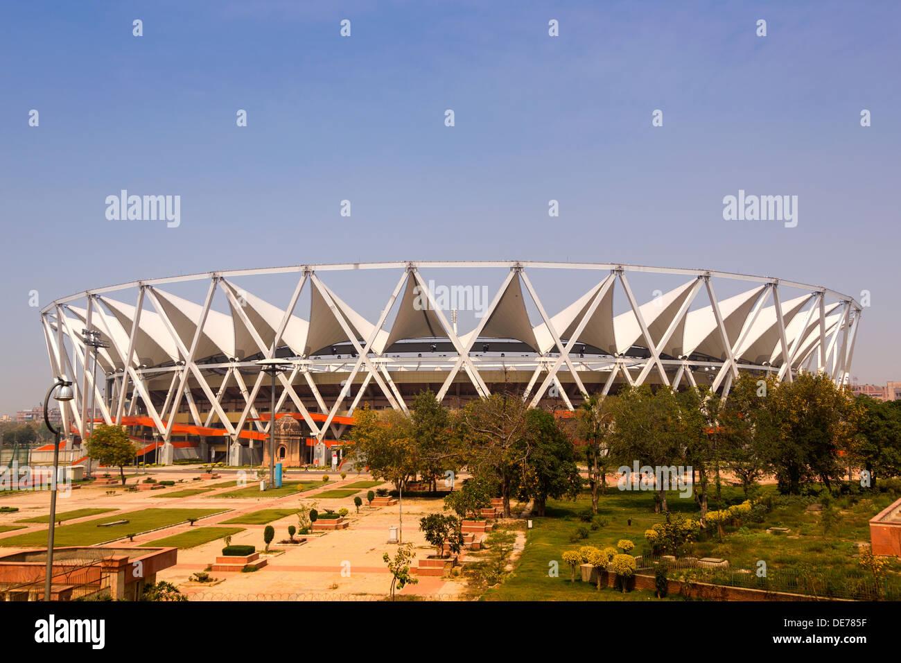 India, Uttar Pradesh, New Delhi, Commonwealth Stadium - Stock Image