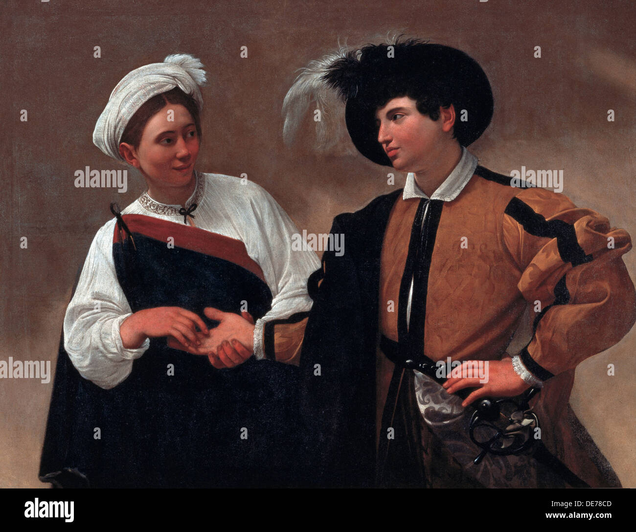 Good Luck, 1595. Artist: Caravaggio, Michelangelo (1571-1610) - Stock Image