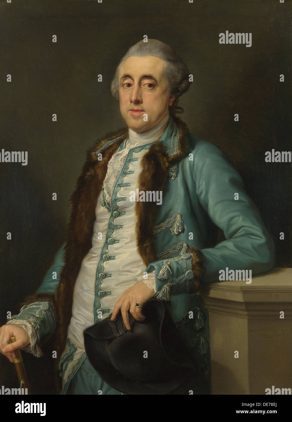 Portrait of John Scott (?) of Banks Fee, 1774. Artist: Batoni, Pompeo Girolamo (1708-1787) - Stock Image