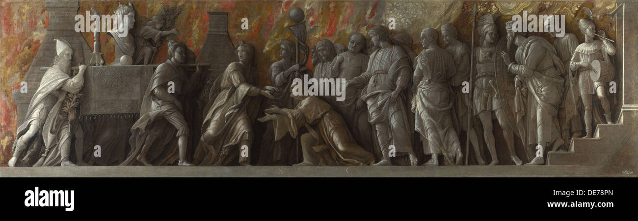 The Introduction of the Cult of Cybele at Rome, c. 1505. Artist: Mantegna, Andrea (1431-1506) - Stock Image
