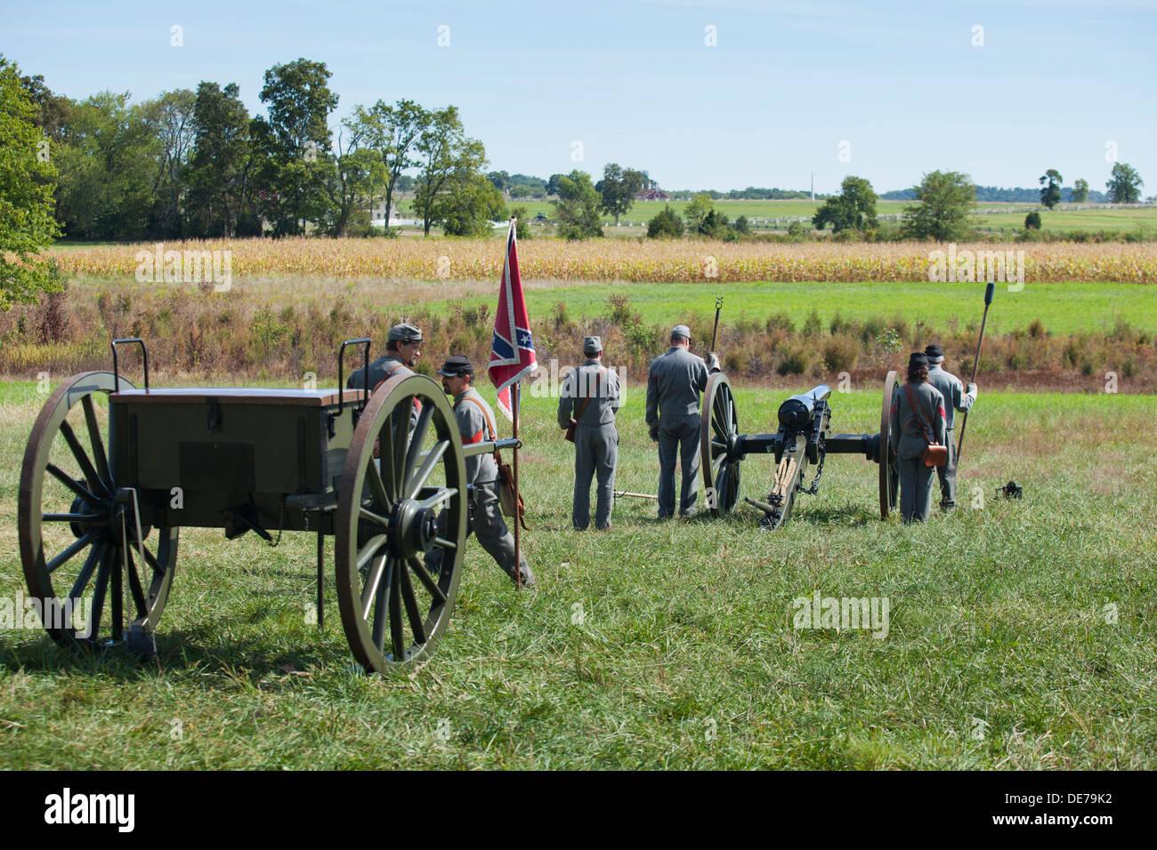 American Civil War reenactment - Gettysburg, Pennsylvania, USA - Stock Image