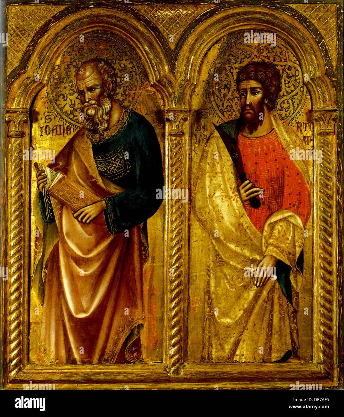 Apostles Saint James and Saint Bartholomew, ca 1345. Artist: Veneziano, Paolo (ca 1330-ca 1360) - Stock Image