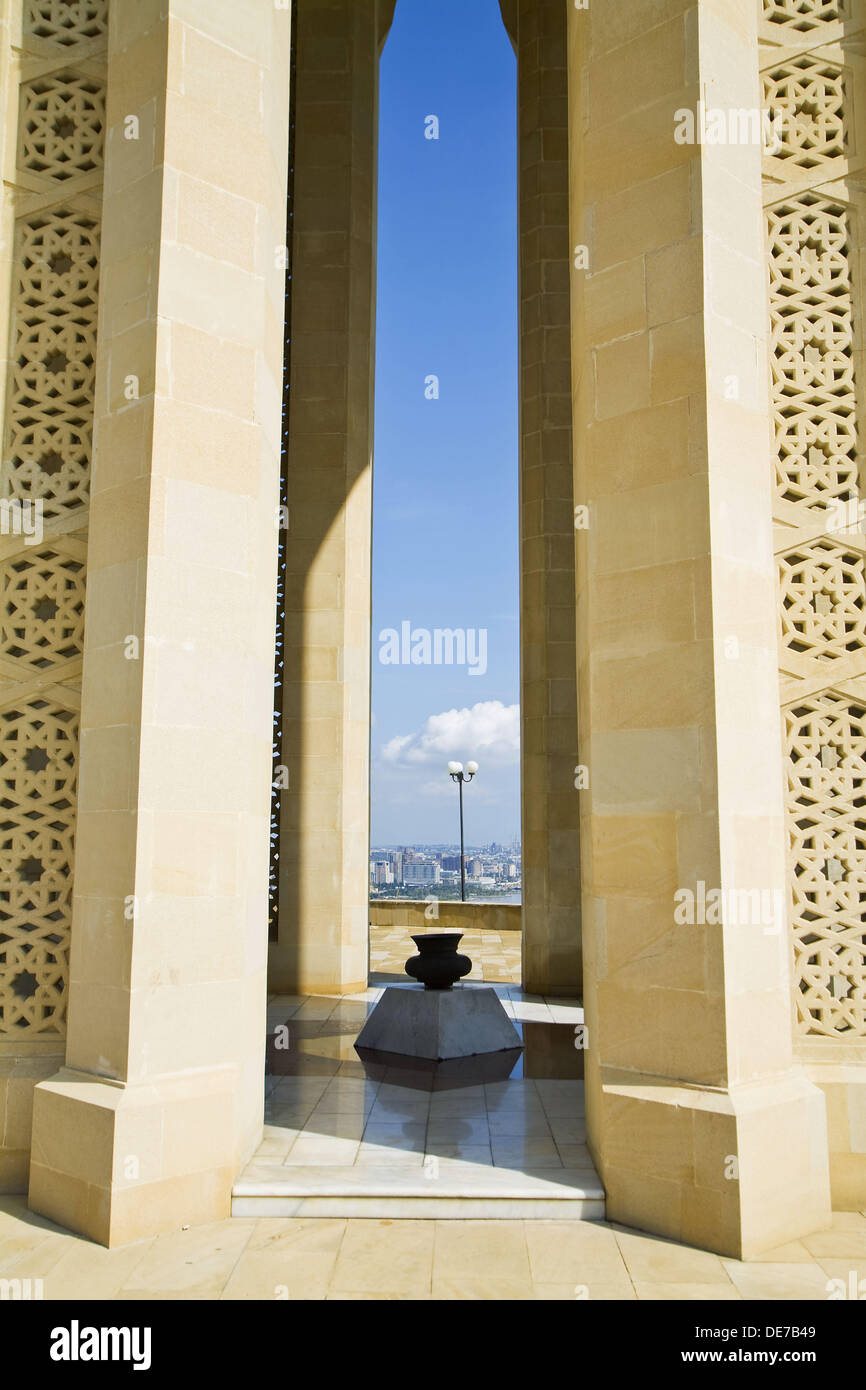 Martyrs Lane memorial to Turkish troops killed fighting against Russia in the early 20th century, Baku, Azerbaijan Stock Photo