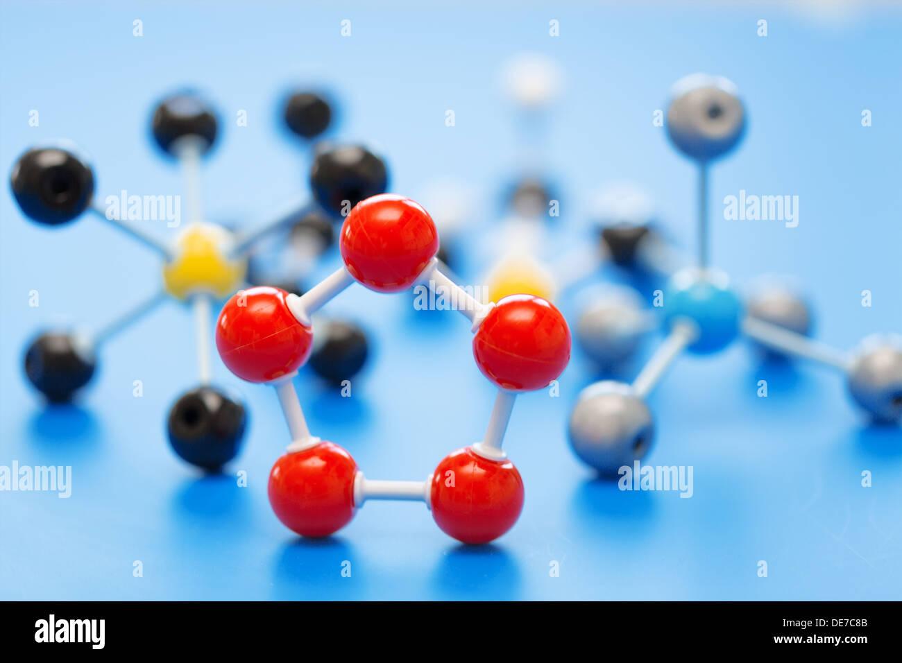 model of chemical molecule - Stock Image