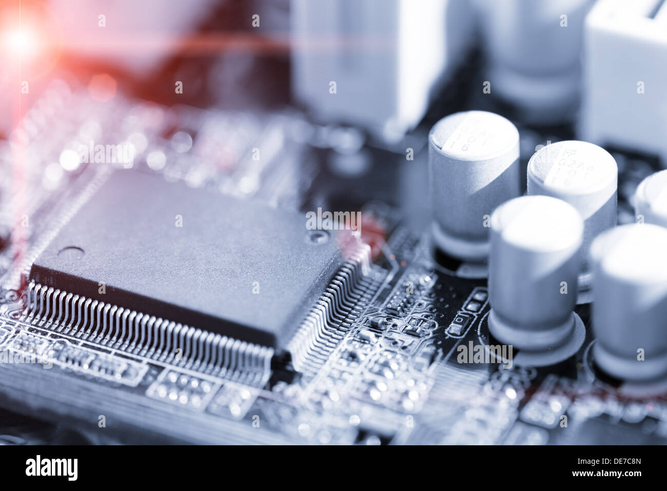 Pcb Board Stock Photos Images Alamy Miniature Electronic Printed Circuit Card Chip On Image