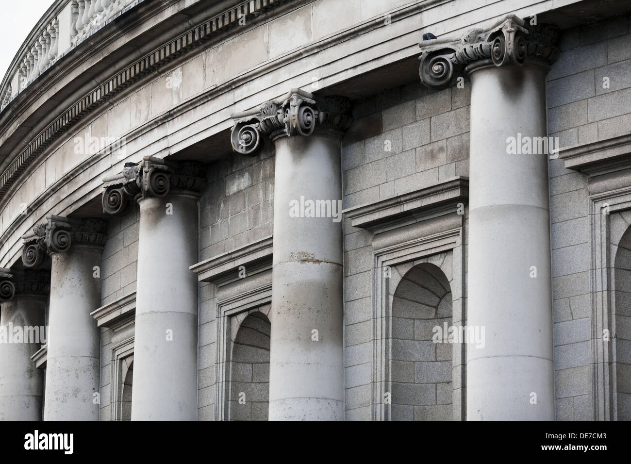 Detail of the Bank of Ireland building, Dublin, Ireland - Stock Image