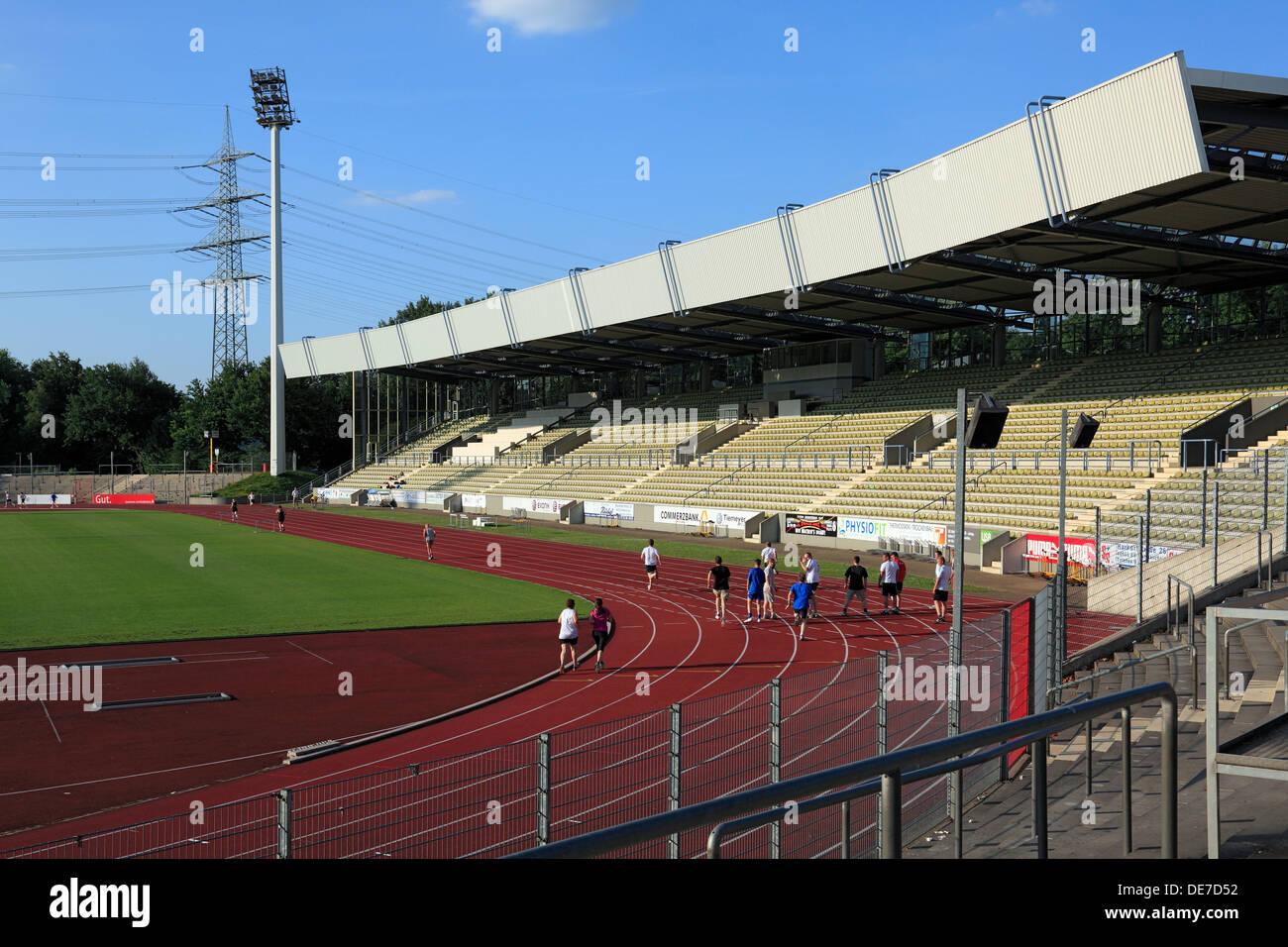 D-Bochum, Ruhr area, Westphalia, North Rhine-Westphalia, NRW, D-Bochum-Wattenscheid, Lohrheide Stadium of SG Wattenscheid 09 - Stock Image