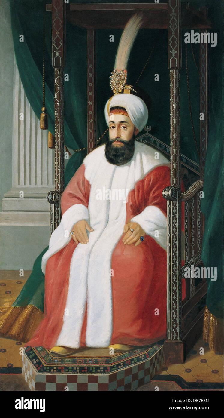 Sultan Selim III, 19th century. Artist: Warnia-Zarzecki, Joseph (19th century) - Stock Image