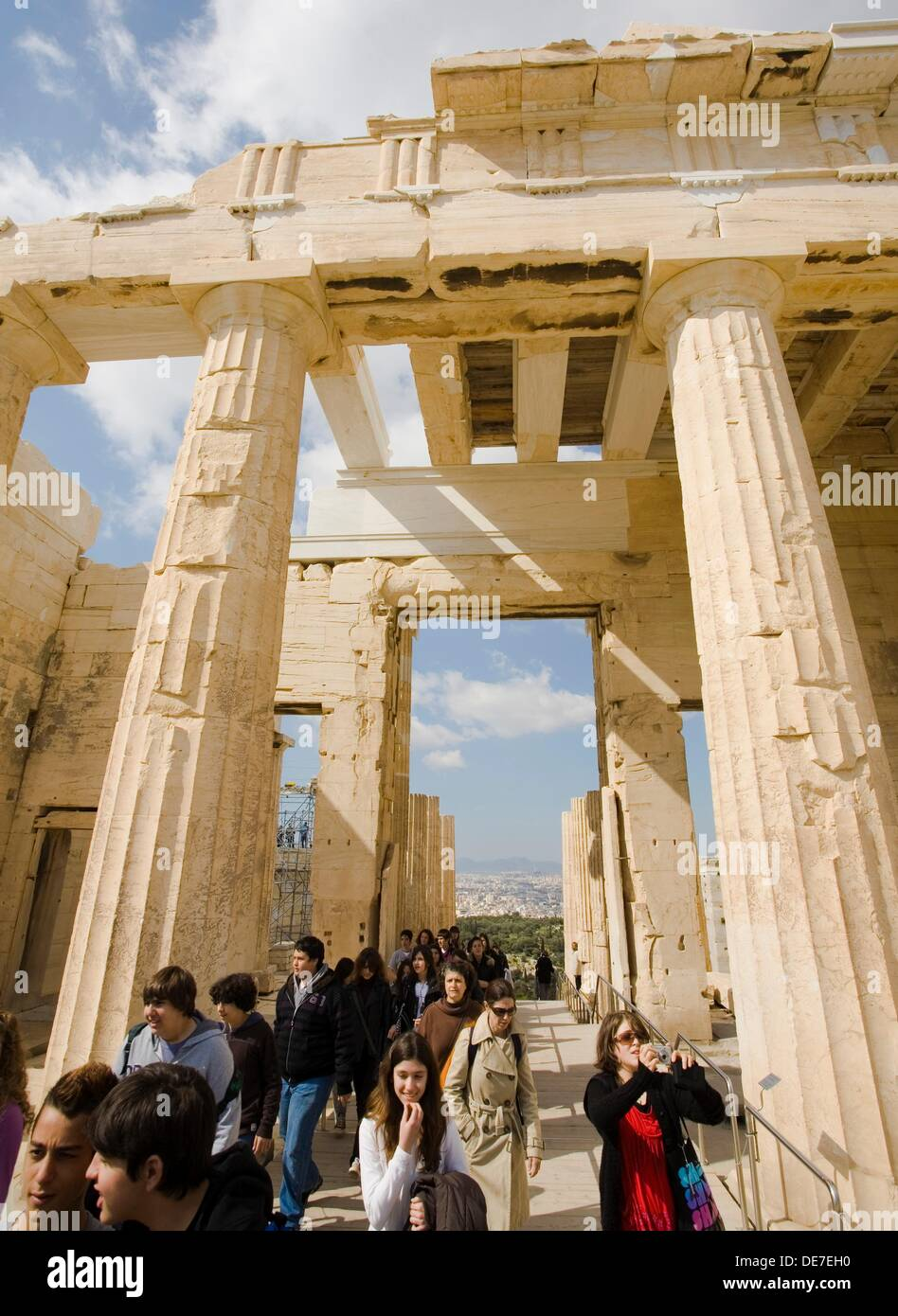 Propylaea, Acropolis of Athens, Greece Stock Photo
