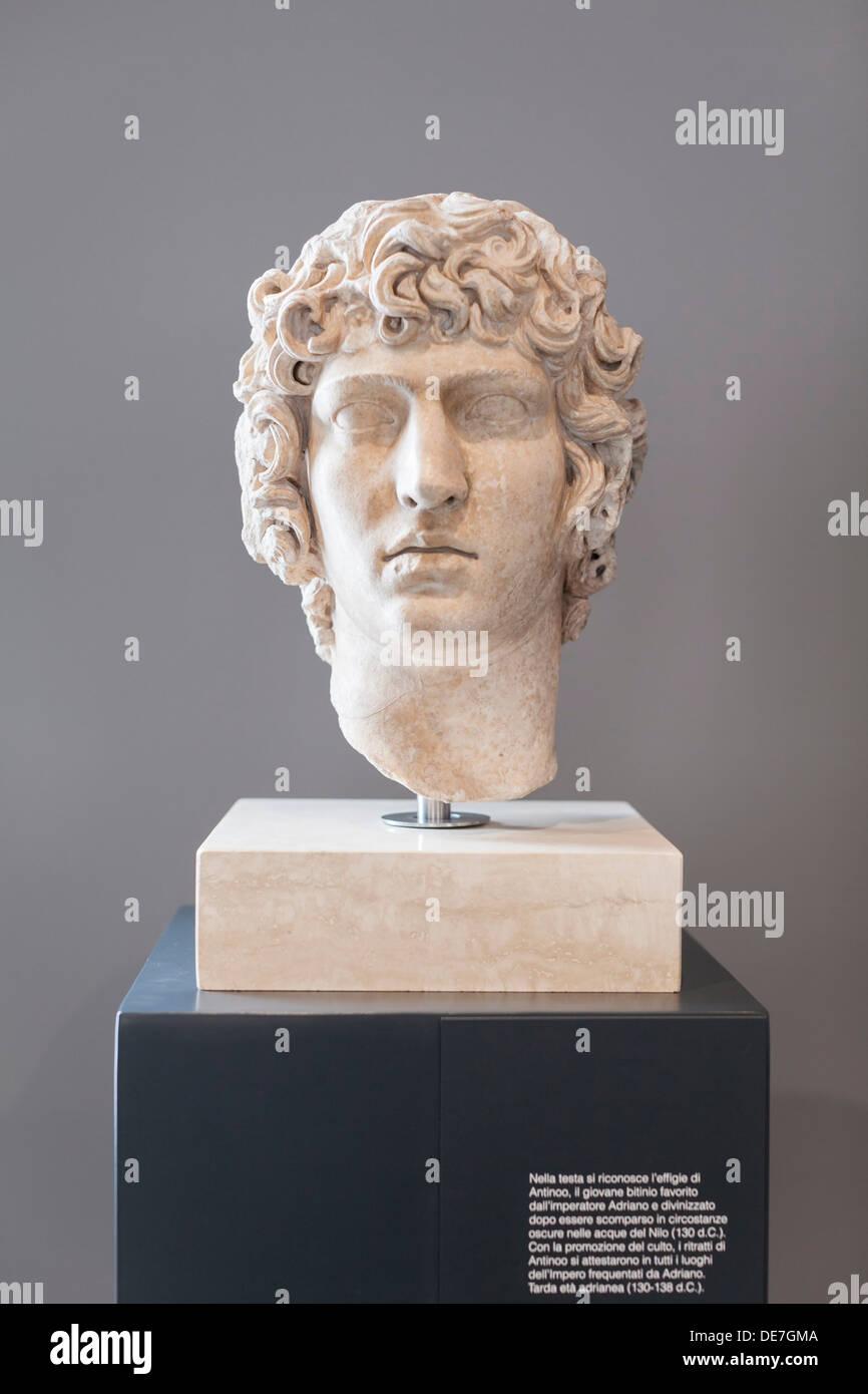 Portrait of Antinous - Stock Image
