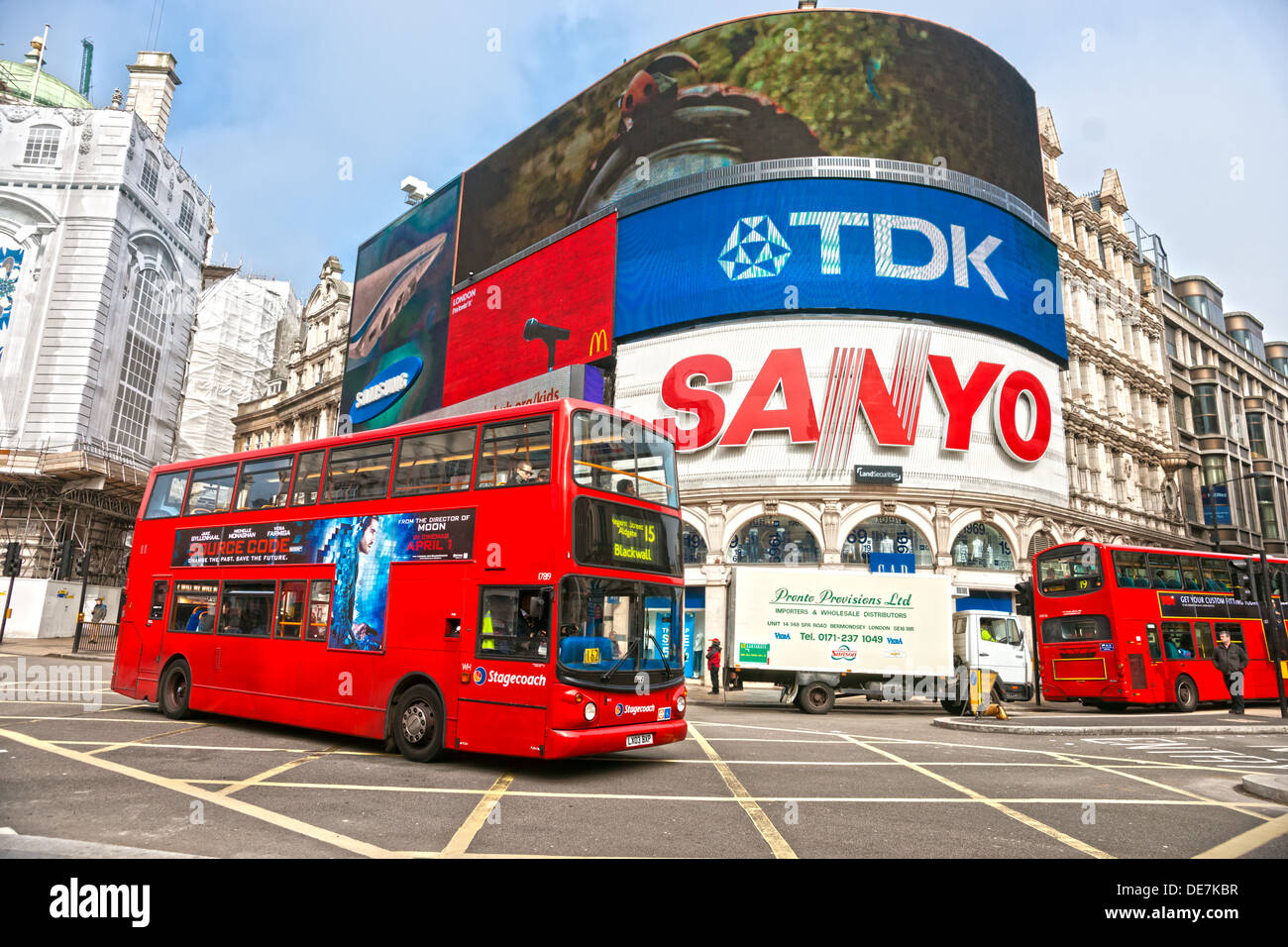 Piccadilly Circus, London, UK. - Stock Image