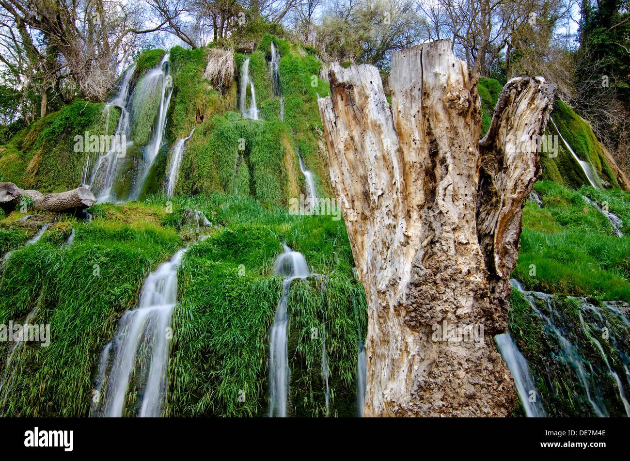 Piedra River Canyon Monasterio De Piedra Natural Park Nuevalos Stock Photo Alamy