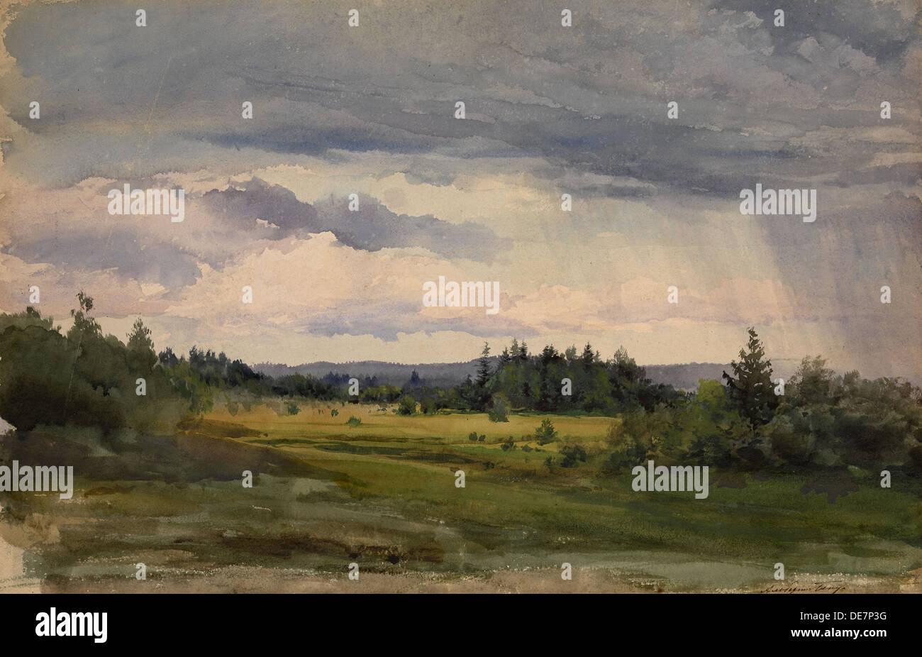 Landscape. Artist: Benois, Albert Nikolayevich (1852-1936) - Stock Image