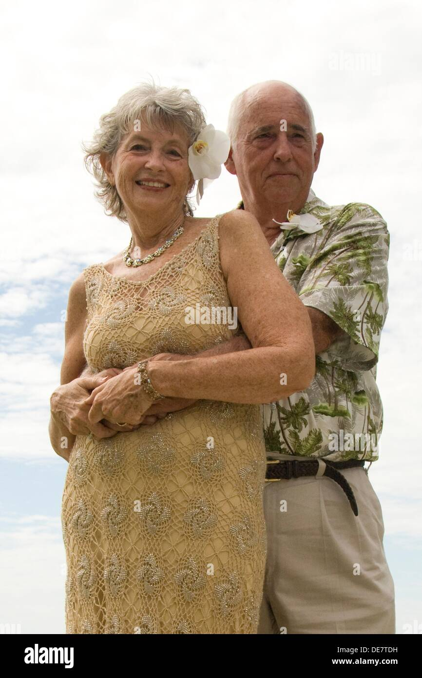 older bride and groom - Stock Image