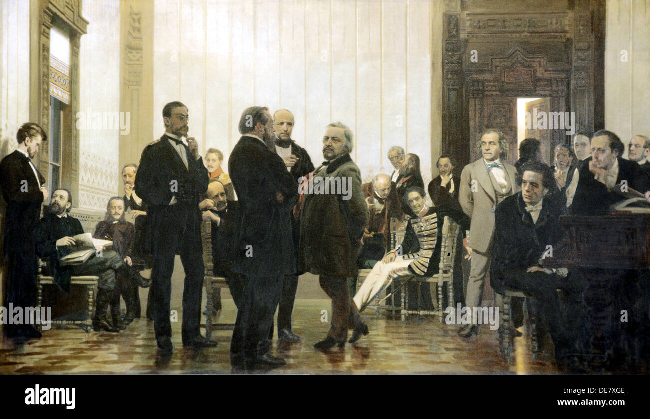 Slavonic composers', 1871-1872. - Stock Image