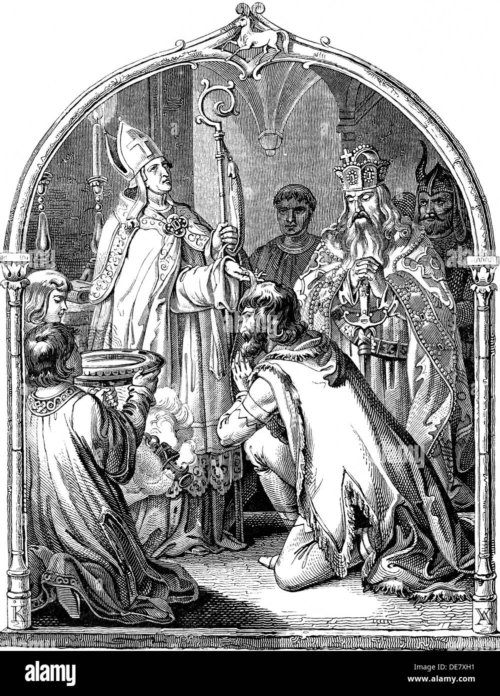 charlemagne and the saxon war Upon his return from italy in 775, charlemagne opened a war of conquest against the saxons his chief opponent was the westphalian chieftain widukind who, in 778, raided the east bank of the rhine up to coblenz, and, in 782, destroyed a frankish punitive force in saxony.