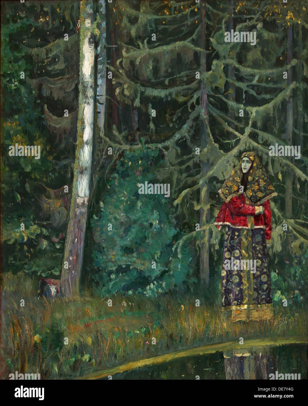 Fairy tale, 1921. Artist: Nesterov, Mikhail Vasilyevich (1862-1942) - Stock Image