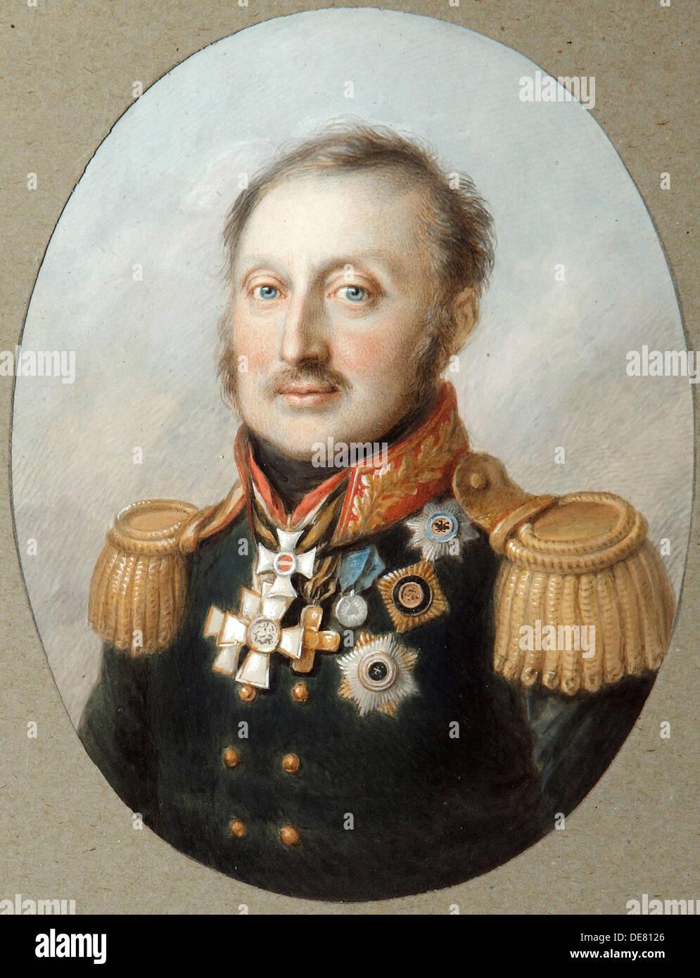Field Marshal Count Ludwig Adolf Peter of Sayn-Wittgenstein-Ludwigsburg, (1769-1843), 1814. - Stock Image