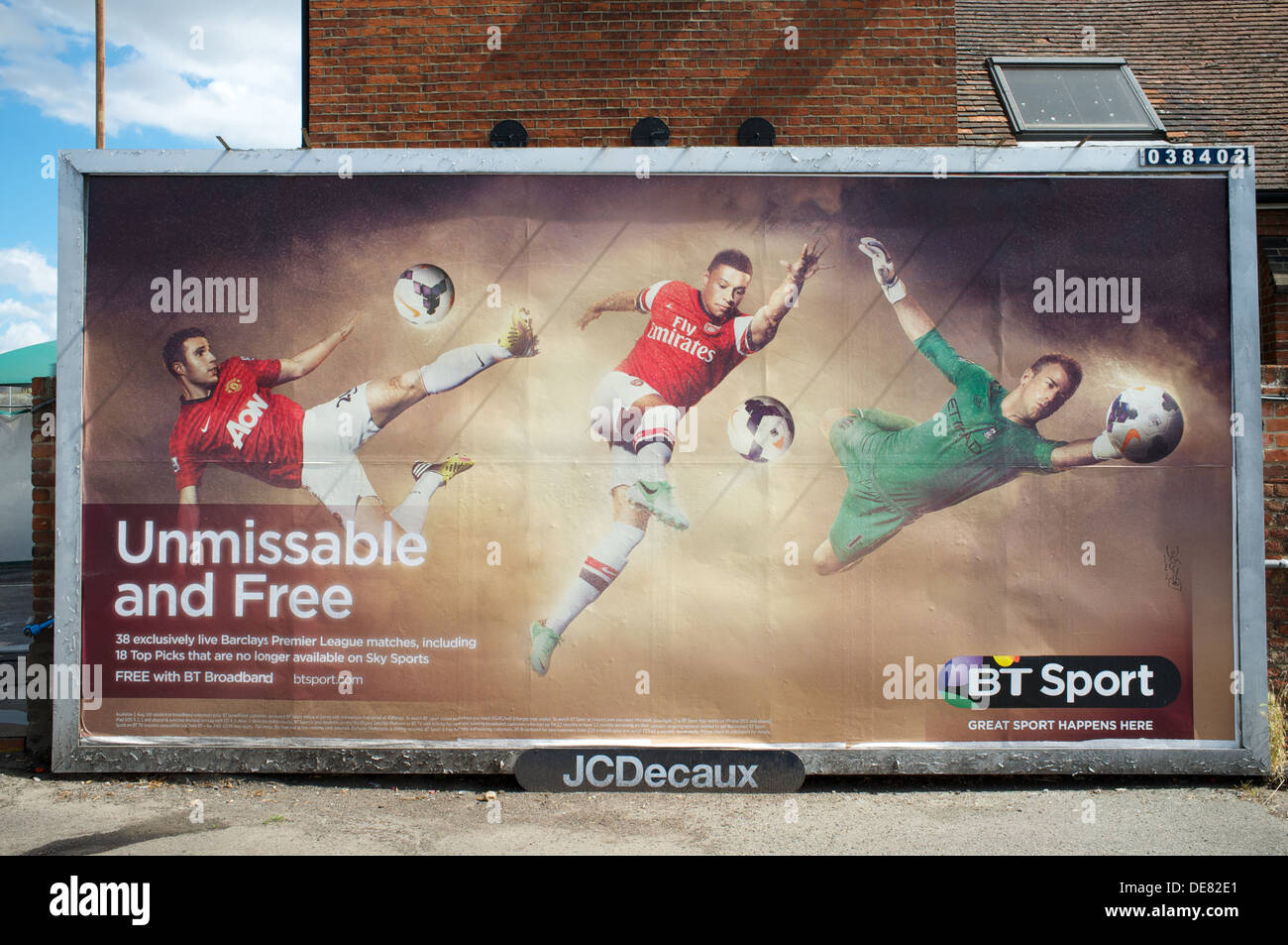 Billboard advertising BT Sport - Stock Image