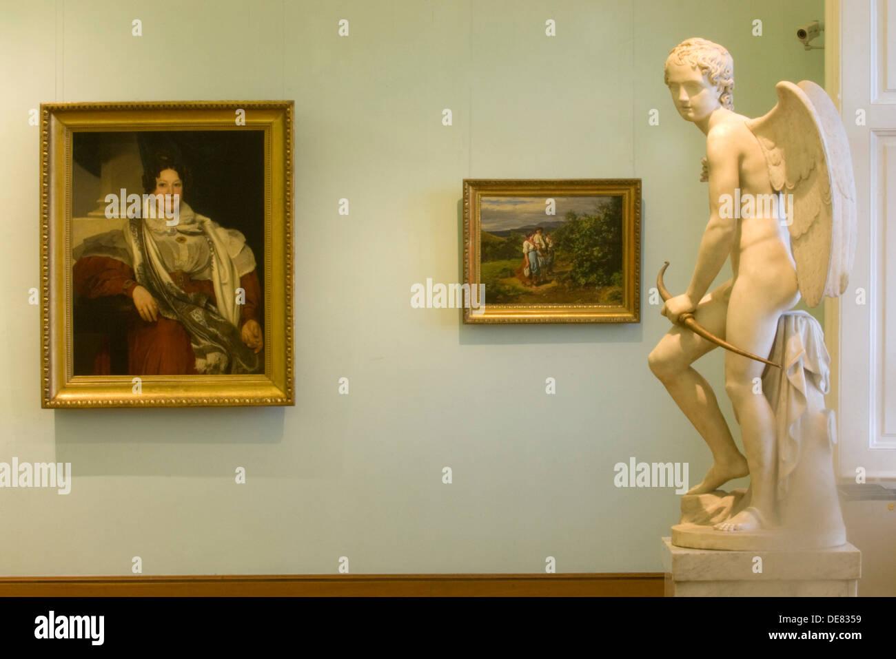 Österreich, Wien 3, Schloss Belvedere, Oberes Belvedere, Austellungsraum - Stock Image