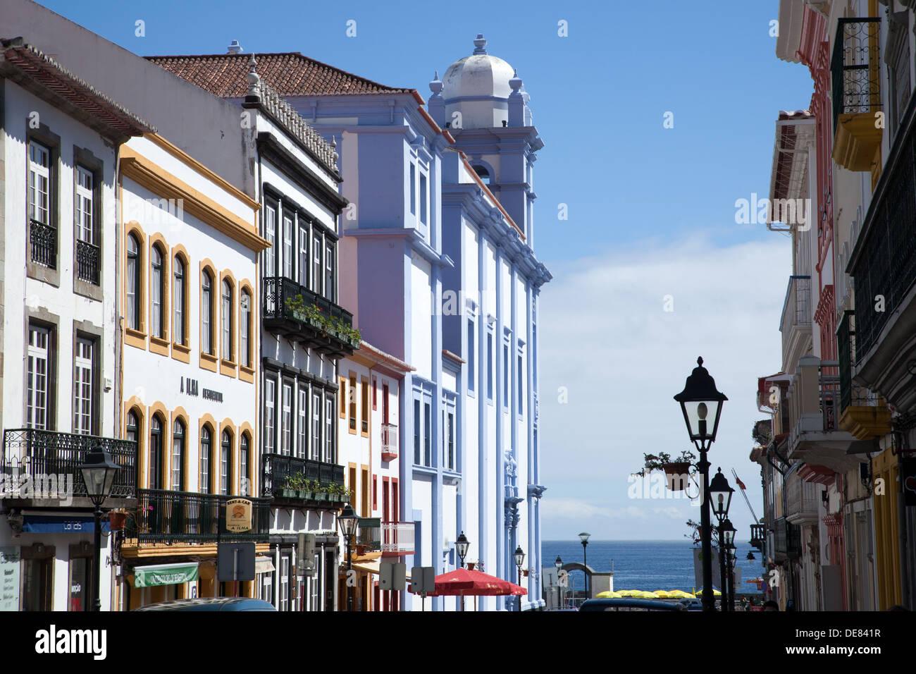 Cidade de Angra do Heroismo , Ilha Terceira , Açores Stock Photo