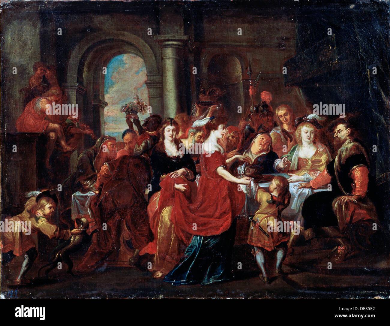 'The Feast of Herod', 17th century.  Artist: Abraham Jansz van Diepenbeeck - Stock Image