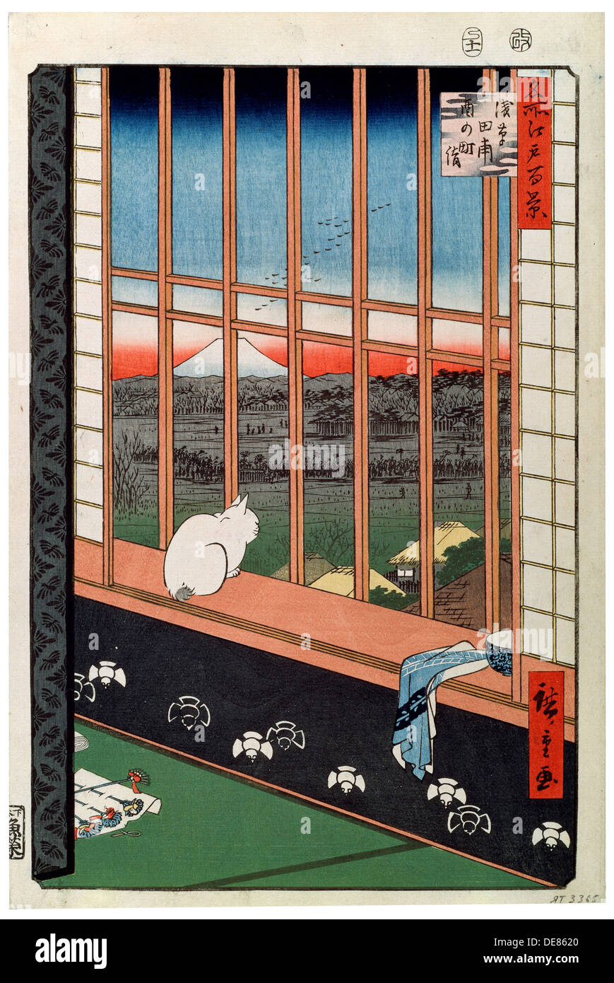 Fabulous A Cat Sitting On The Window Seat 19Th Century Artist Gmtry Best Dining Table And Chair Ideas Images Gmtryco