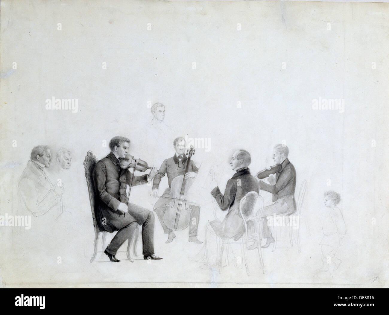 'Quartet', 1840s.  Artist: Anon - Stock Image