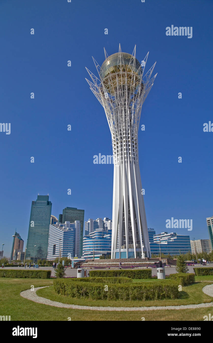 Bayterek tower in Astana, Kazakhstan - Stock Image