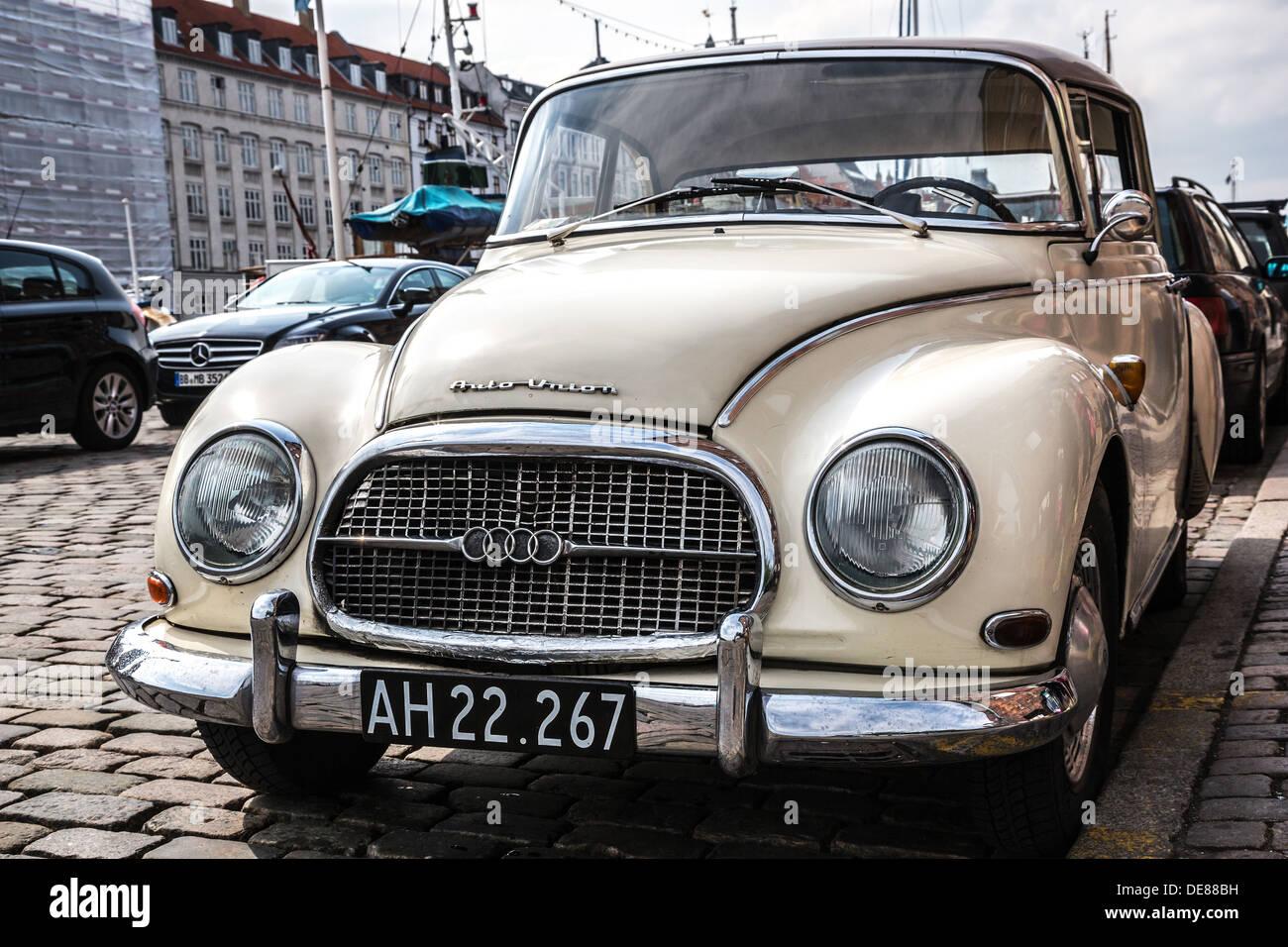 copenhagen denmark a classic car auto union 1000 s coupe stock