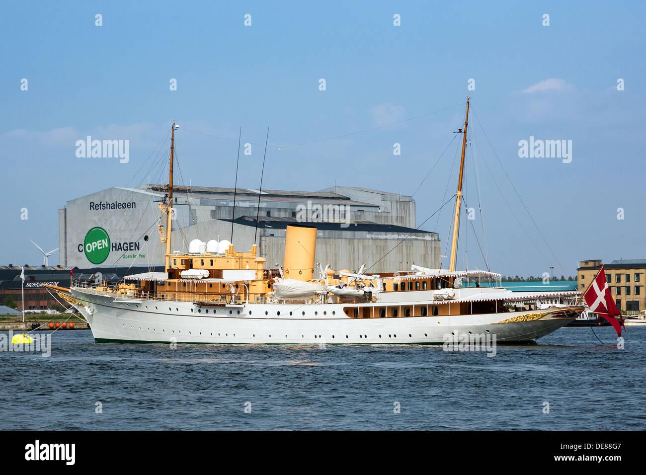 Copenhagen, Denmark, the King Yacht Dannebrog - Stock Image