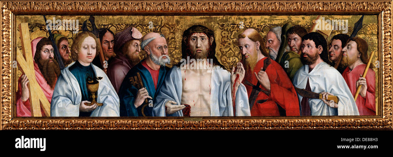 'Christ and the Twelve Apostles', second half of 15th century. Artist: German Master - Stock Image