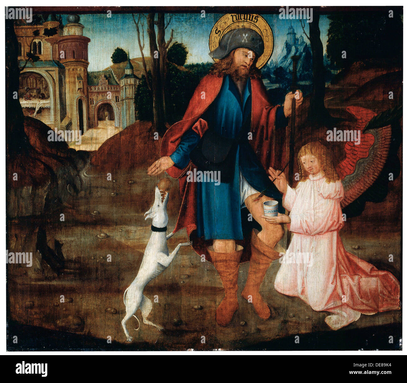 'The Healing of Saint Roch', late 15th century. Artist: German Master - Stock Image