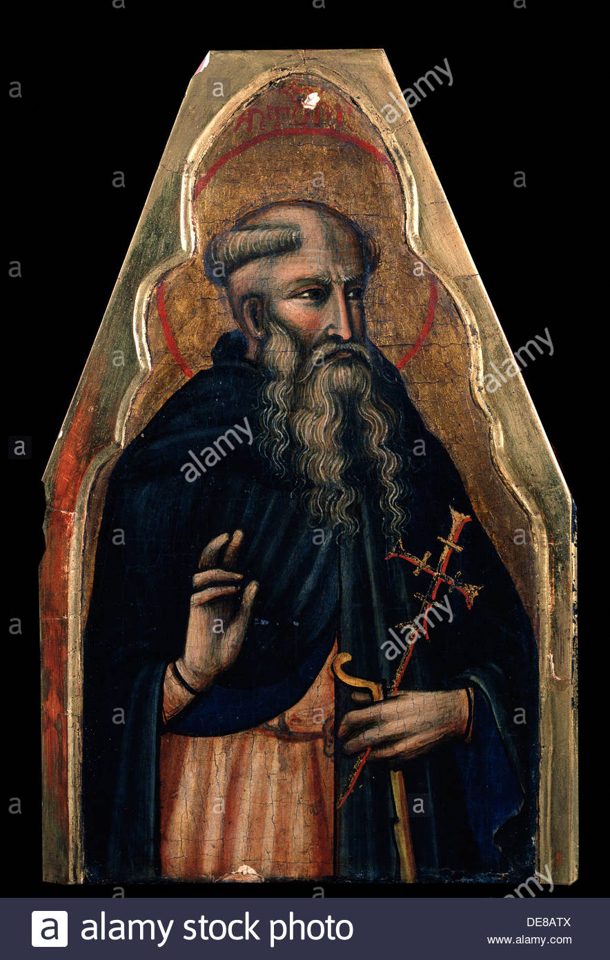 'Saint Anthony', late 14th century. Artist: Venetian Master - Stock Image