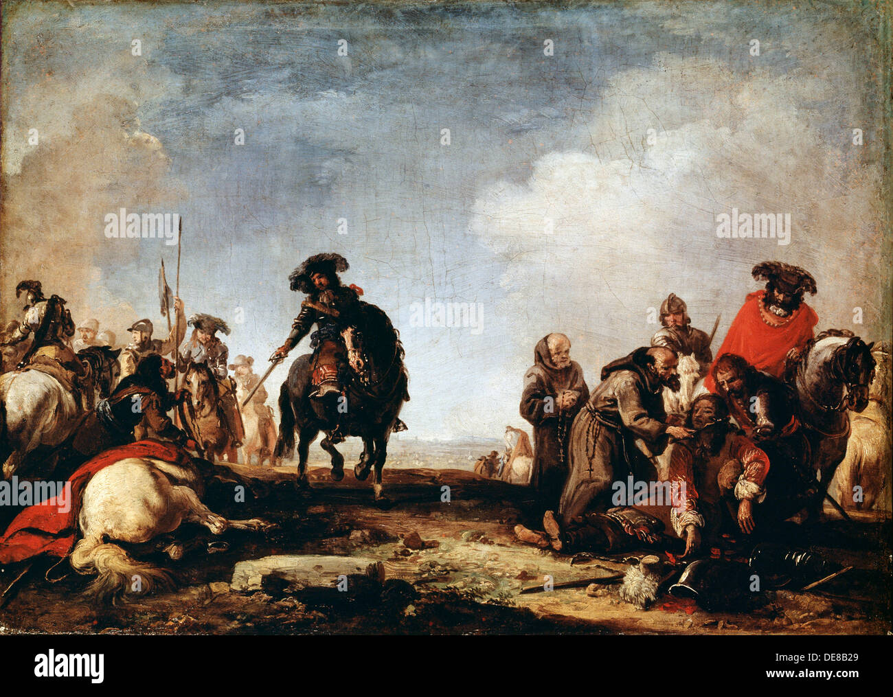 'After a Battle', 17th century.  Artist: Jacques Courtois - Stock Image