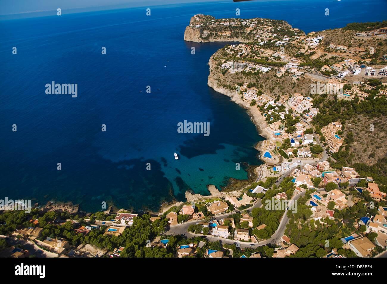 Cala Llamp and Sa Mola cape, Majorca, Balearic Islands, Spain - Stock Image