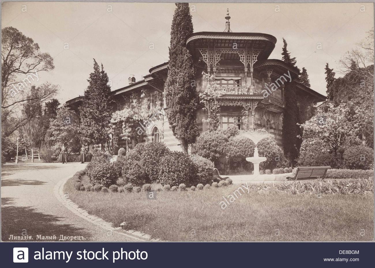 The small Livadiya palace. Artist: Anonymous - Stock Image