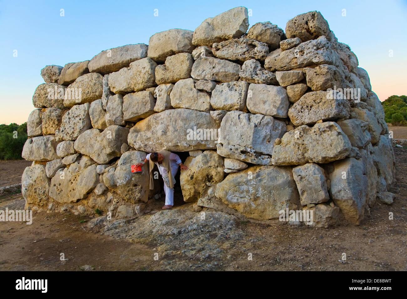 Rafal Rubi funerary building. Minorca. Balearic Islands. Spain. - Stock Image