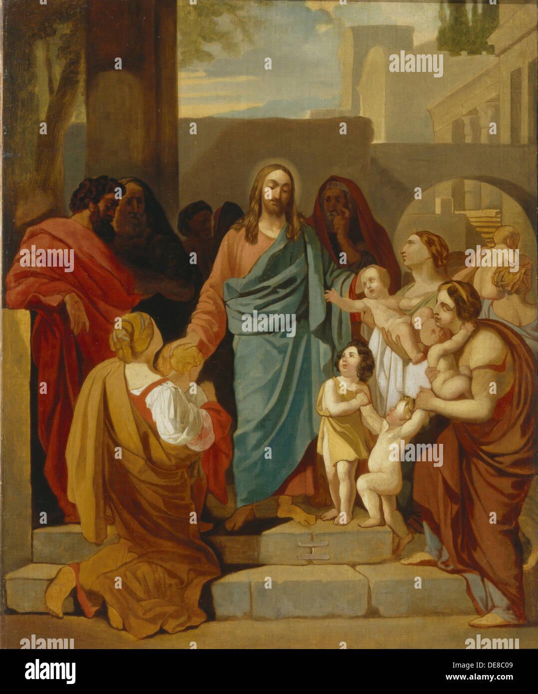 Christ Blessing the Children, 1824. Artist: Briullov, Karl Pavlovich (1799-1852) - Stock Image