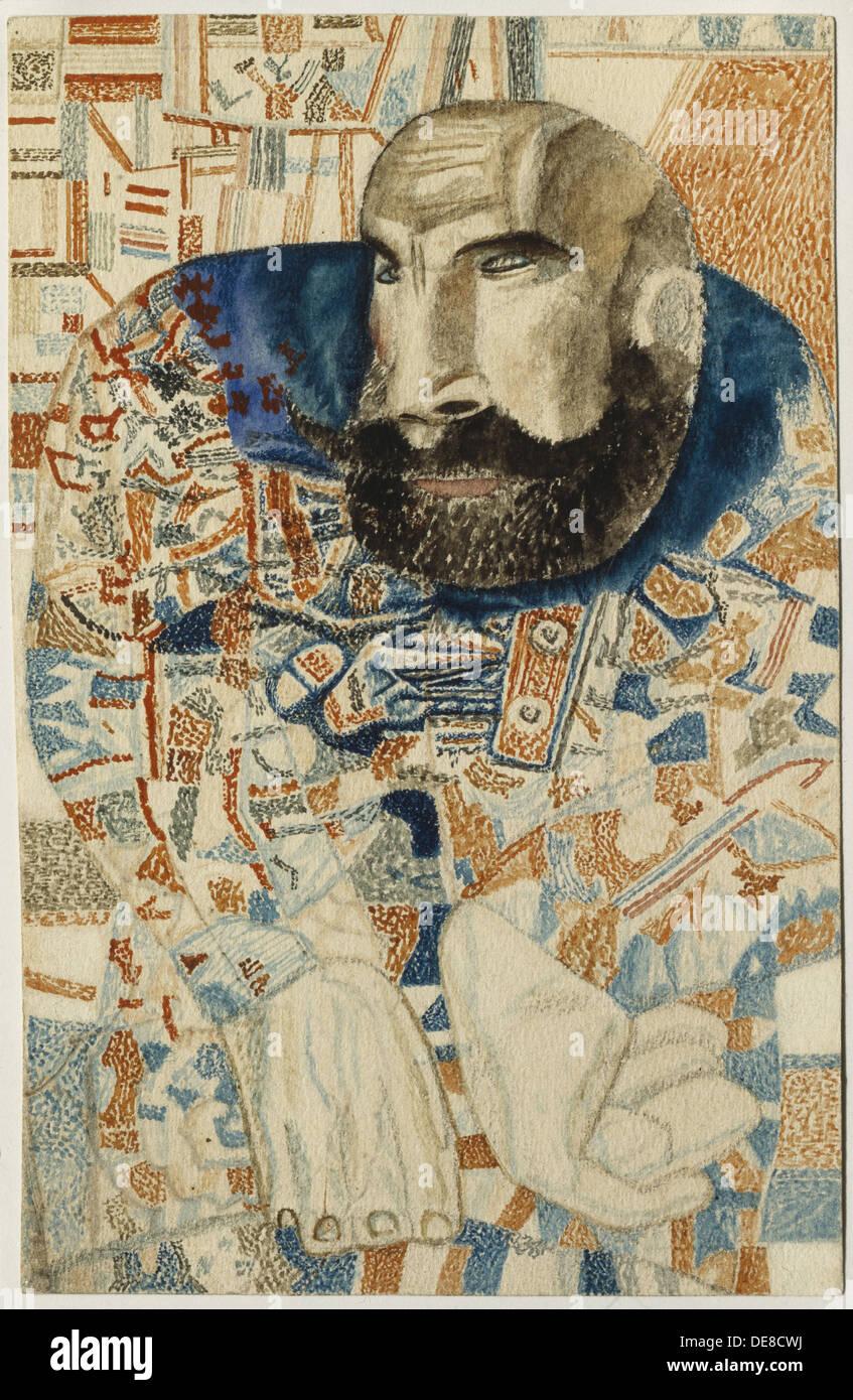 A coachman, 1912-1928. Artist: Filonov, Pavel Nikolayevich (1883-1941) Stock Photo