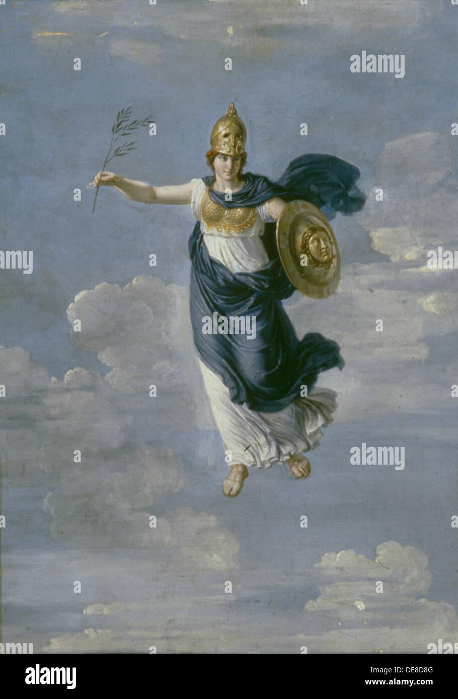 Minerva in the Heavens, 1820. Artist: Ivanov, Andrei Ivanovich (1775-1848) - Stock Image