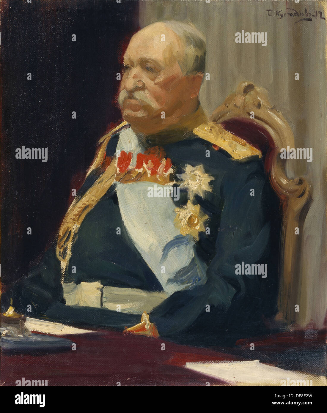 Portrait of Count Alexei Ignatyev, the Member of the State Council, Minister of the interior, 1902. Artist: Kustodiev, Boris Mic - Stock Image