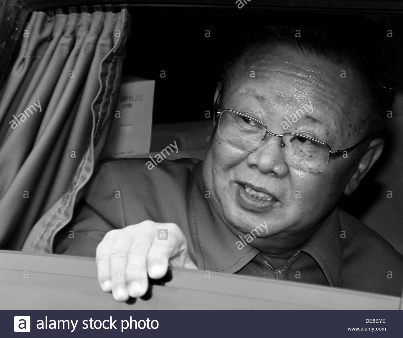 Kim Jong-il. Artist: Anonymous - Stock Image