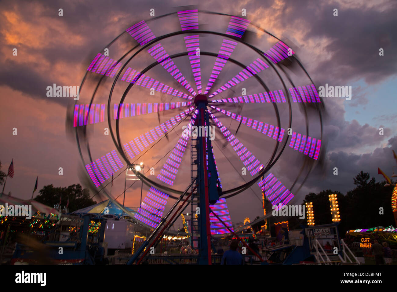 Chatham, New York - A ferris wheel at the Columbia County Fair. Stock Photo