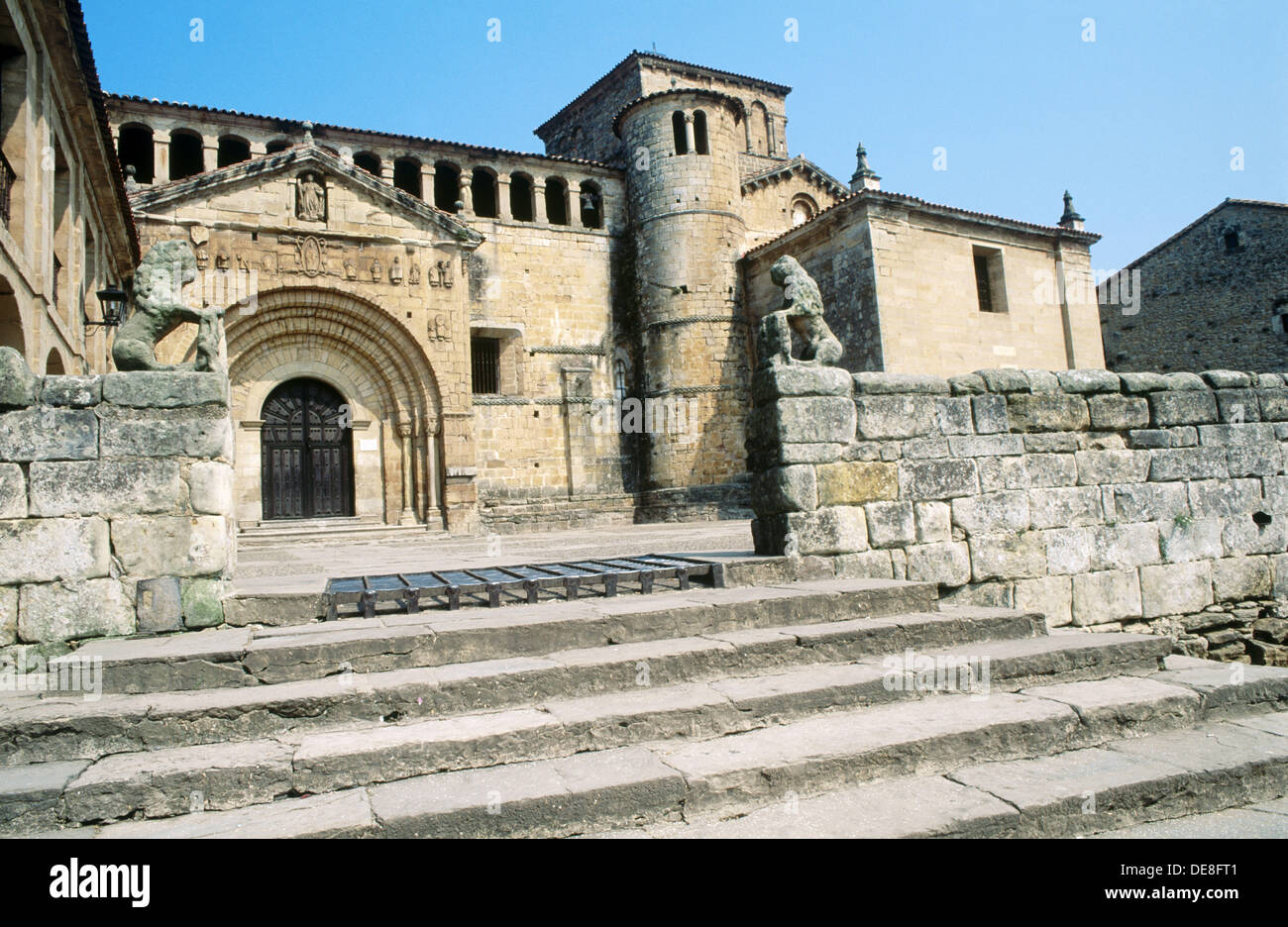 Santa Juliana collegiate church, Santillana del Mar. Cantabria, Spain - Stock Image