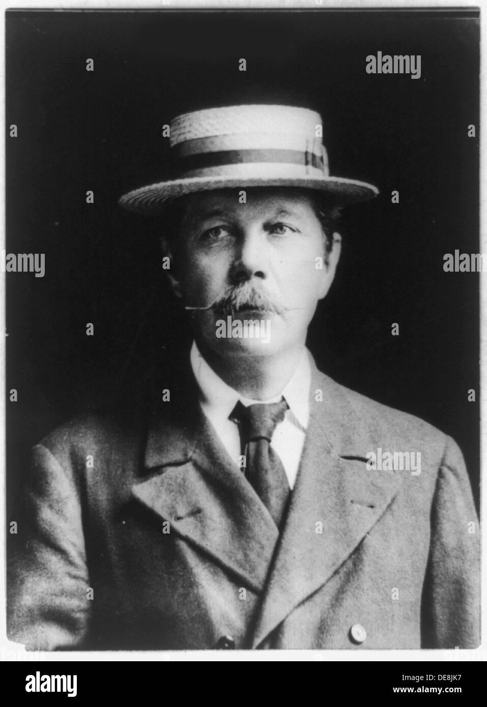 Sir Arthur Conan Doyle. Artist: Anonymous - Stock Image